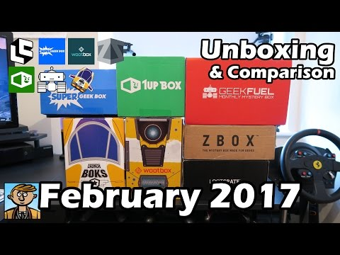 February 2017 Unboxing & Comparison - Subscription Box Reviews (Loot Crate, Geek Fuel, & More)