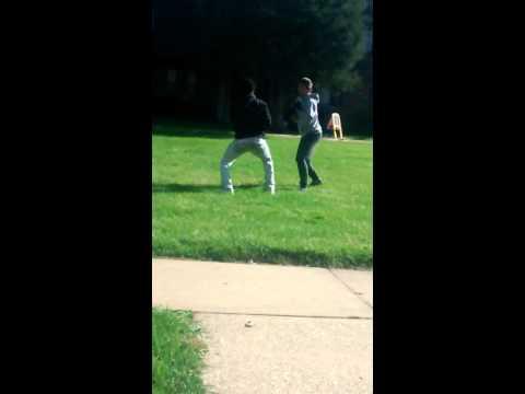 Zay Savage boxing a white boy