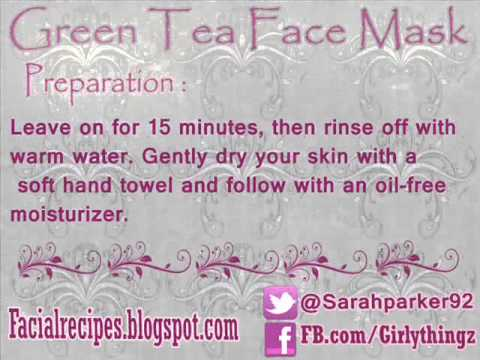 Green tea face mask to cure acne