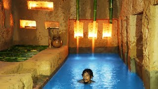 Unique Primitive Technology: Build The Most Secret Underground House And Swimming Pool.