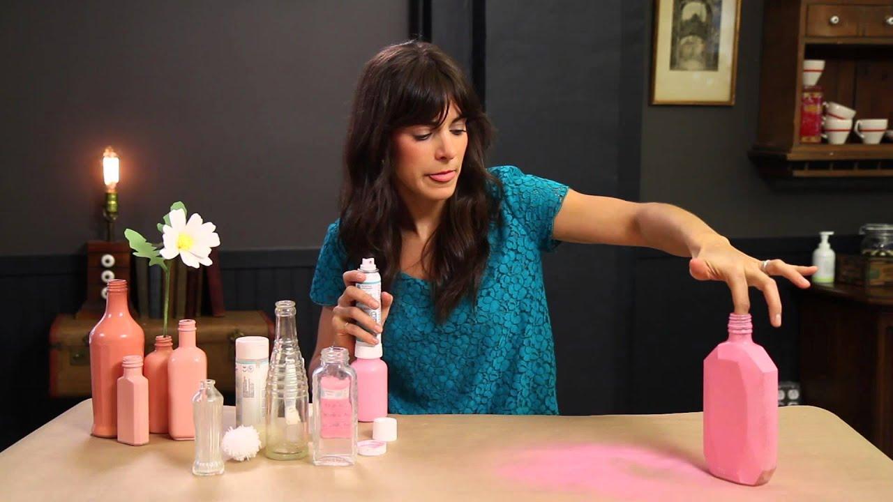 How To Spray Paint Inside Glass Bottles