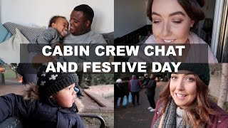 CABIN CREW CHAT AND FESTIVE DAY | VLOGMAS DAY 4 | BELLES BOUTIQUE