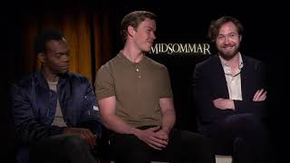 Will Poulter, William Jackson Harper and Vilhelm Blomgren Interview: Midsommar