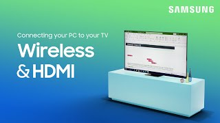 01. How to connect a PC to your TV or Smart Monitor for work or gaming | Samsung US