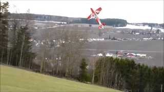 "Extreme Flight 104"" Extra 300 - Helgøya Airport 8/3-2014 by Kenneth"