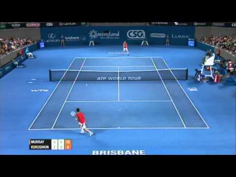 Andy Murray v Mikhail Kukushkin Highlights Men's Singles Rd 1: Brisbane International 2012
