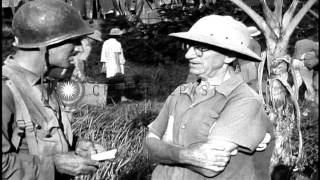 Los Banos Internment Camp liberation in Philippine Islands during World War 2 HD Stock Footage