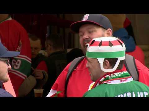 Хоккей. ЧМ-2017 в Киеве. Площадь перед Дворцом спорта перед стартовым матчем Украина - Венгрия