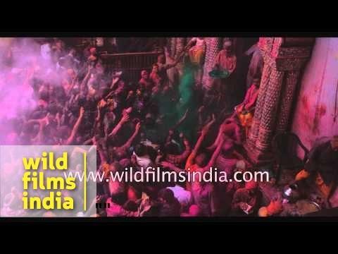 Slow motion - Holi Festival celebration in India