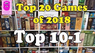 Top 20 Games of 2018 Part #2 top 10-1 (In English, board games, #top10games)