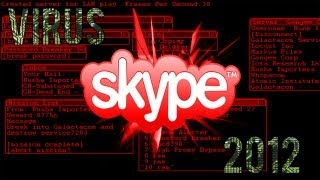 Spot and FIX the 2012 skype virus fix skype virus (skype keylogger) (skype trojan) English