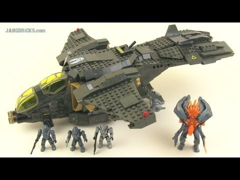 Mega Bloks Halo 97129 UNSC Pelican Gunship set review!