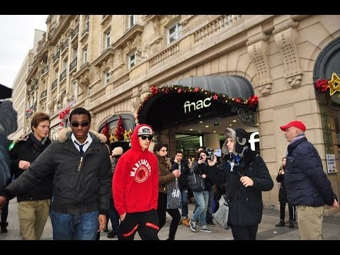 Fake Celebrity Prank (justin Bieber) In Paris|champs Elysées - Knife Party Lrad (music Video) video