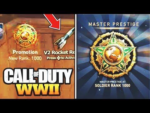 "WORLD'S FIRST ""LEVEL 1000"" in Call of Duty WW2! (LEGIT) - WW2 Prestige Master LEVEL 1000 REACTION!"