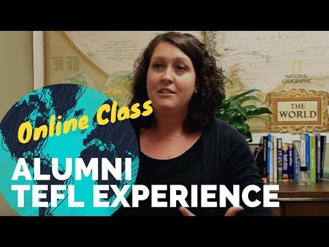 Alicia a certified school teacher gives reivews of Online TEFL Class of Inerternational TEFL Academy