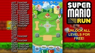 Super Mario Run - UNLOCK LEVELS FOR FREE - No shady apps