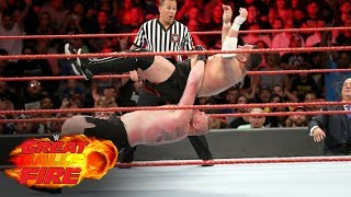 Brock Lesnar vs. Samoa Joe - Universal Title Match: WWE Great Balls of Fire 2017