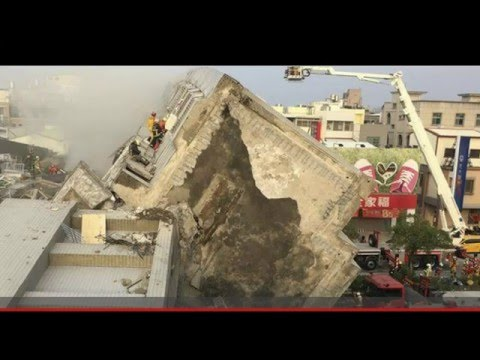 Tainan quake Drone footage as it Happened!