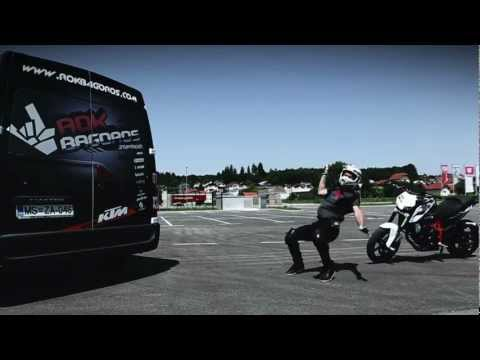 Rok Bagoros KTM 690 stunt Duke goes From Slip-On to Akrapovič Full system 2012