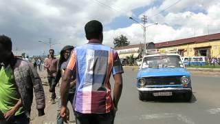 アディスアベバの中心、ピアッサを歩く In Addis Ababa, Ethiopia, Part3