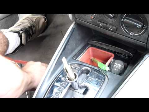 Volkswagen Jetta. Automatic Transmission Shift Knob R&R