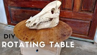 DIY Rotating Table by Woodturning - How to make