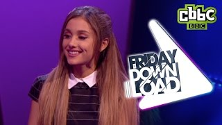 Ariana Grande 60 second interview on CBBC's Friday Download