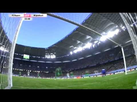 Franck Ribéry Traumtor vs Gladbach Telekom Cup 2014 (dreamgoal)