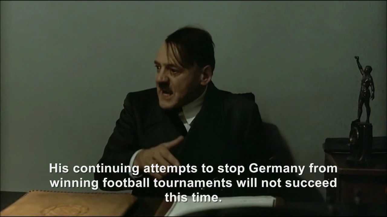 Hitler and the Germany v Italy Euro 2012 semi-final