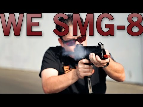 Airsoft GI - WE SMG-8 Gas Blow Back Shooting and Gun Review with Tim