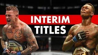 Have UFC Interim Titles Been Vindicated?