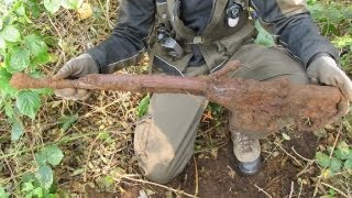 WWII Relic Hunting - G43 Rifle and German helmet