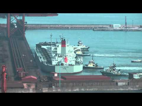 "MY BEST TIMELAPSE SHIPS IN GIJON PORT 09 ""tilt & shift"""