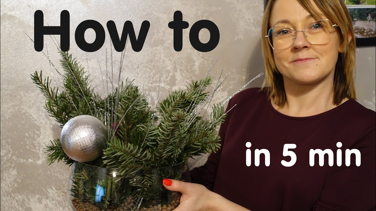 How to make Christmas decoration with candle - easy and fast DIY ideas and tutorial