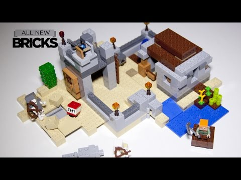 Lego Minecraft 21121 The Desert Outpost Speed Build