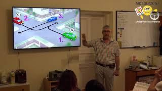 Jobbkéz szabály tanítása a Mosolyzóna Autósiskolában