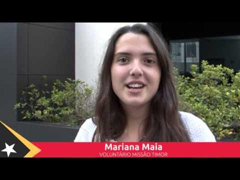 Mariana Maia - Voluntário Missão Timor