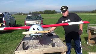 FLAIR Hannibal 2.3m and Kawasaki 26cc petrol engine Maiden flight