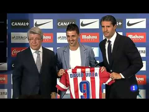Presentación de David Villa con el Atlético de Madrid