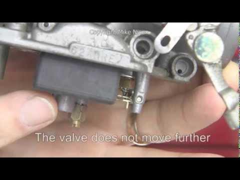 Adjusting Carburetor Float Level