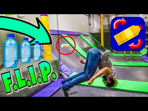 TRAMPOLINE PARK GAME OF BOTTLE F.L.I.P.!!!!