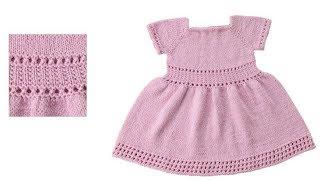 Вязание Детских Платьев Спицами - модели 2018 / Knitting Children's Dresses with Knitting Needles