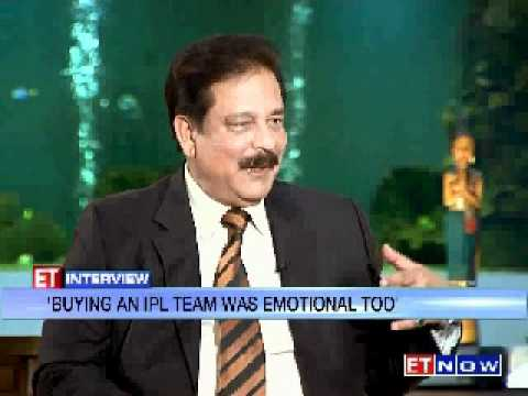 ET Interview with Subrata Roy - Part 1