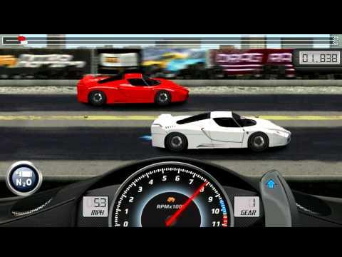Drag racing Ferrari FXX  1/4 tune
