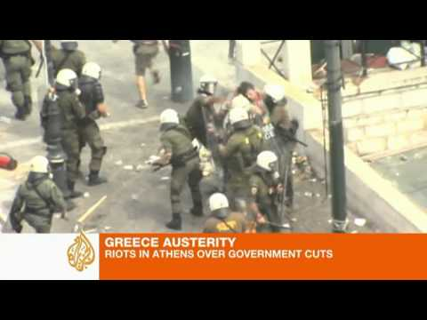 Riots in Greece over austerity cuts