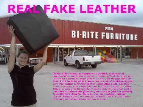 REAL FAKE LEATHER BI RITE FURNITURE WMV