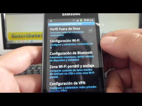 como compartir internet del celular al pc samsung Galaxy ace S5830 español Full HD