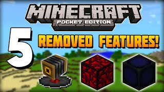 ✔ Minecraft PE - 5 Features Removed from Pocket Edition