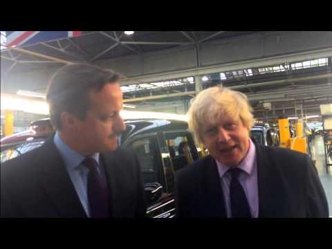 David Cameron: Visiting the London Taxi Company with Boris Johnson