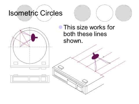 how to draw isometric circles on paper